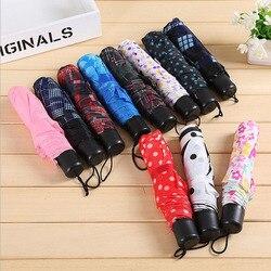 Producenci hurtownie 8K jednolity kolor składany parasol kwiatowy krata kolor Ultra Mini trzy składany parasol prezent reklama G na