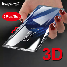2Pcs 3D glass protective film For Samsung Galaxy S8 Plus HD screen protector transparent hard full tempe