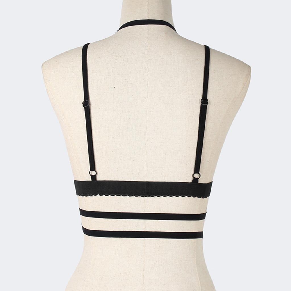 Bandage Lingerie Hollow Out Lace Bra Set Sexy Femme Halter Vest Bustier Top Push Up Brassiere Bras Ladies Underwear Set Erotic