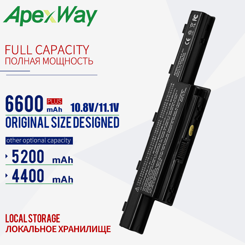 ApexWay <font><b>battery</b></font> for <font><b>Acer</b></font> <font><b>Aspire</b></font> <font><b>aspire</b></font> AS10D51 AS10D61 AS10G3E V3 4741 4253 4551G 4552G 4560 4625 4733Z as10d31 as10d75 as10d81 image