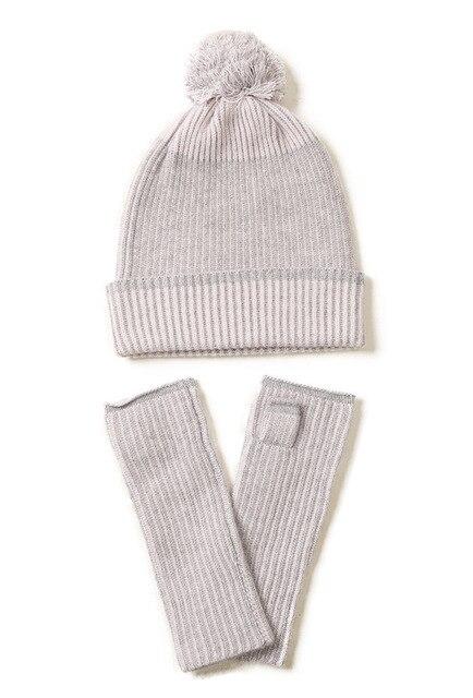 Фото новейший новый дизайн вязаная шапка из кашемира и перчатки две цена