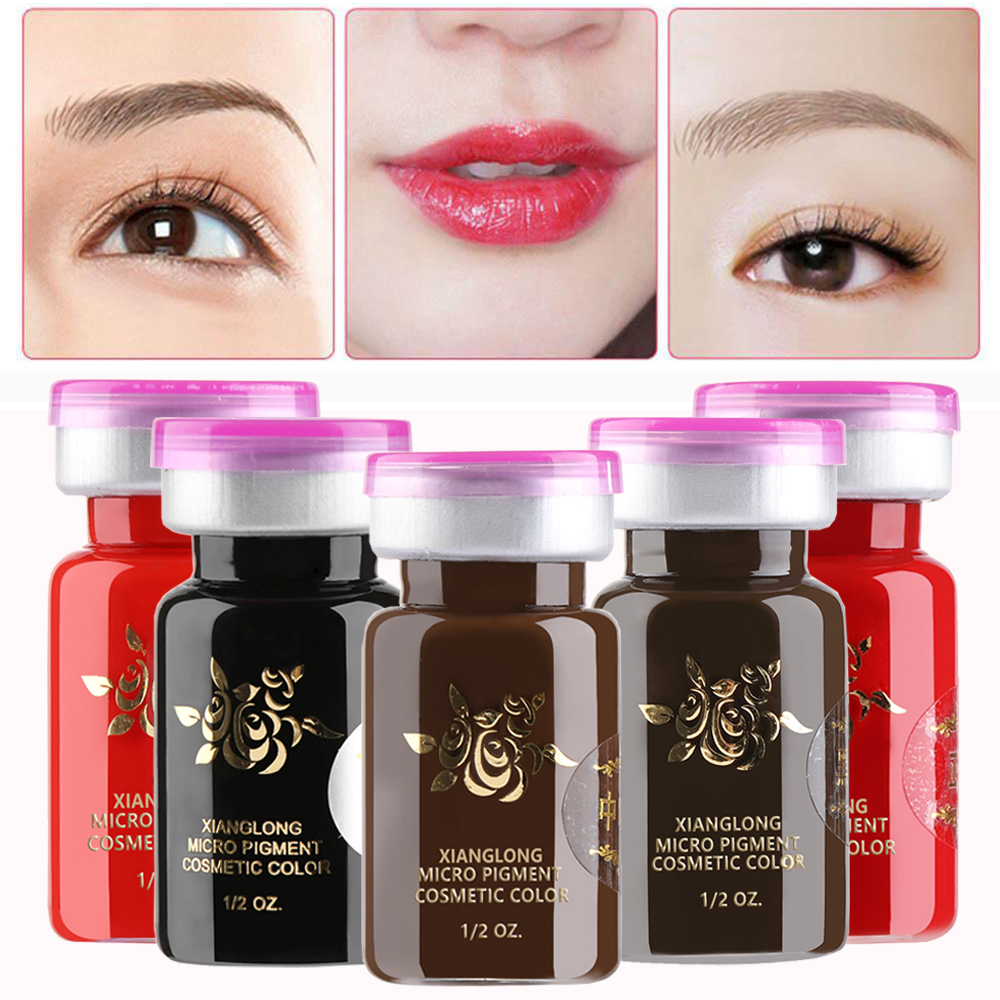Hot Sale Eyebrow Lip Liner Tattoo Ink Emulsions Semi Permanent Eyebrow Makeup Durable Pigment Microblading Beauty Tool Supplies