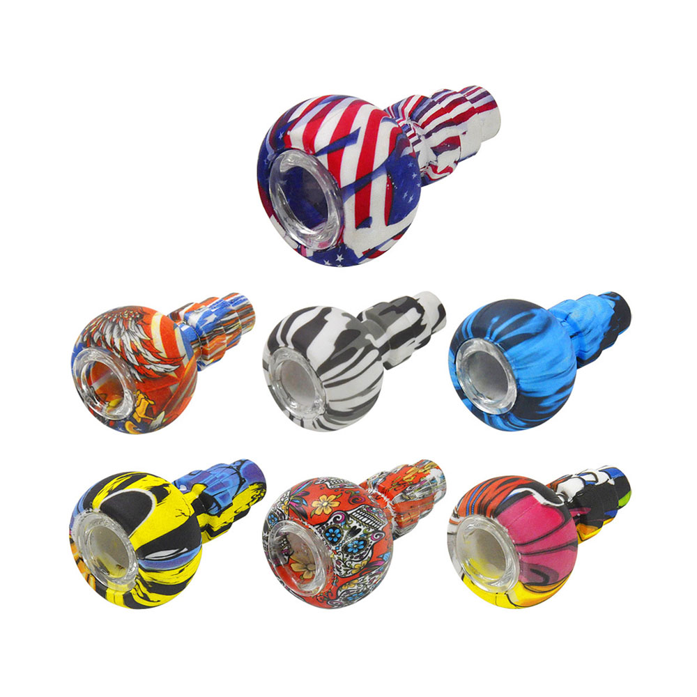 Hookah Shisha Pipe Accessories Silicone Head Holder Glass Bowl Water Smoking Bong Narguile Flavor Joint Tobacco Screens Skull 1