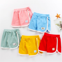 Children Shorts Pants Baby-Boys-Girls Summer Baby Kids Cotton Casual Thin Candy-Color