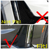 Car Front Rear Fog Lights Cover Tirm Foglight Lamps Protector Frame Accessories Fit For Cadillac XT6 2020 2021 ABS Exterior 2
