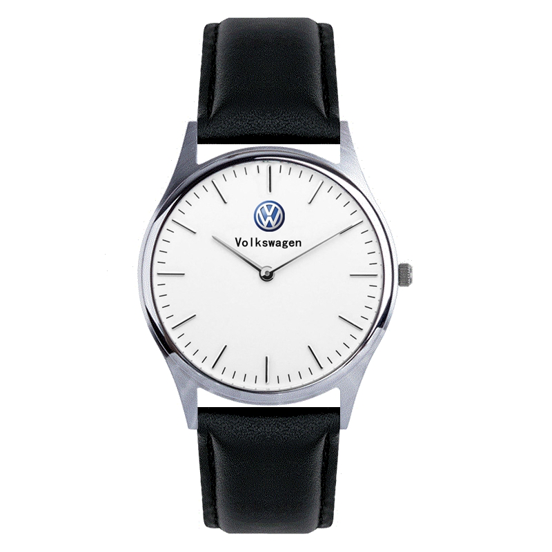 Luxury Volkswagen Watch Quartz Wristwatches Men'S Watch Leather, Silver Stainless Steel Mesh Belt Car Lovers Gifts