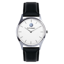 Luxury Volkswagen Watch Quartz Wristwatches MenS Leather, Silver Stainless Steel Mesh Belt Car Lovers Gifts