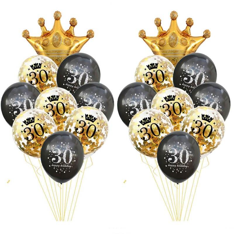Воздушные шары на день рождения, 30/40/50/60 лет