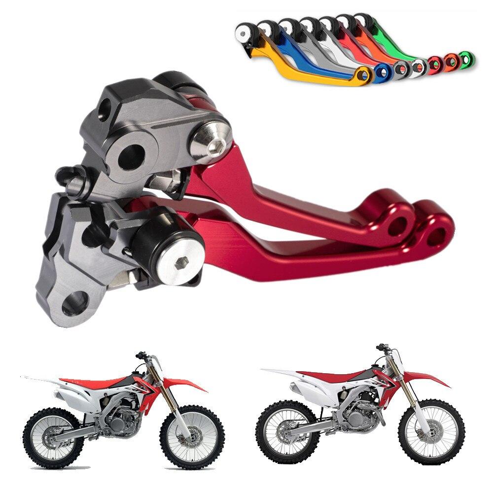 CNC Pivot Alavancas de Freio de Embreagem Bicicleta Da Sujeira Da Motocicleta Da Bicicleta Para Honda CRF CRF250R CRF450R 250R 450R