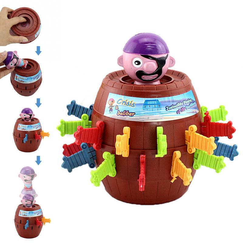 Funny Jumping Gadget Pirate Barrel Game Toy Tricky Toy Adult Kids Party Game Gags Practical Jokes Lucky Stab Pop Up Toy