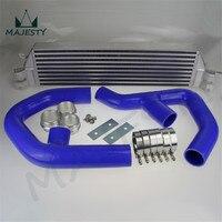 TURBO TWIN INTERCOOLER KIT FOR Volkswagen VW GOLF MK5 MK6 GTI FSI JETTA 2.0T BLUE