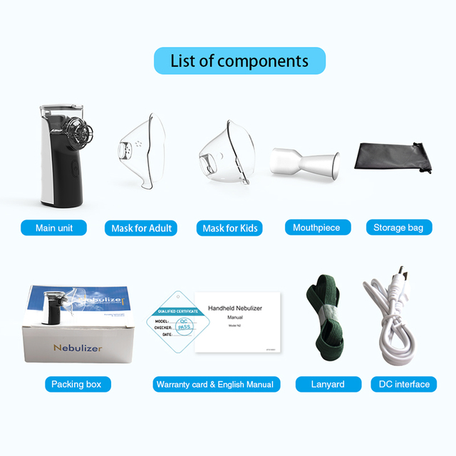 BOXYM Mini Handheld inhaler nebulizer Portable nebulizer for kids Adult Atomizer nebulizador medical equipment Asthma 5