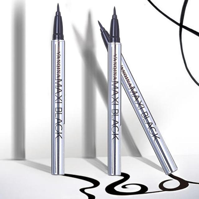 1 pcs Ladies Black Liquid Eyeliner Long-lasting Waterproof Eye Liner Pencil Smudge-Proof Cosmetic Beauty Makeup Liquid 3