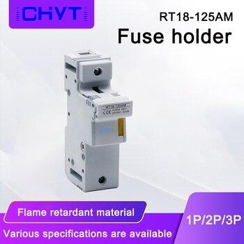R017 RT18-125 500V 22x58mm golpe rápido de Fusible de tubo 63A 80A 100A 125A RO17 22*58mm 22x58x22*58 con Base soporte de fusibles 1