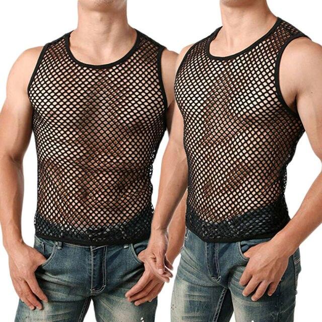 Transparents Unterhemd Ärmelloses Shirt Sexy Männer Wäsche