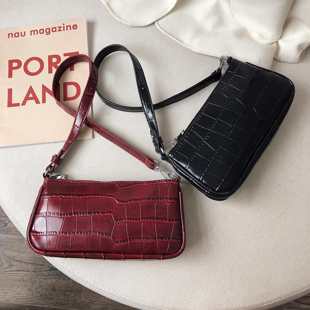 Small Shoulder Bags For Women Crocodile Leather Square Bag Brand Mini Designer Travel Totes Office Lady Shoulder Bag