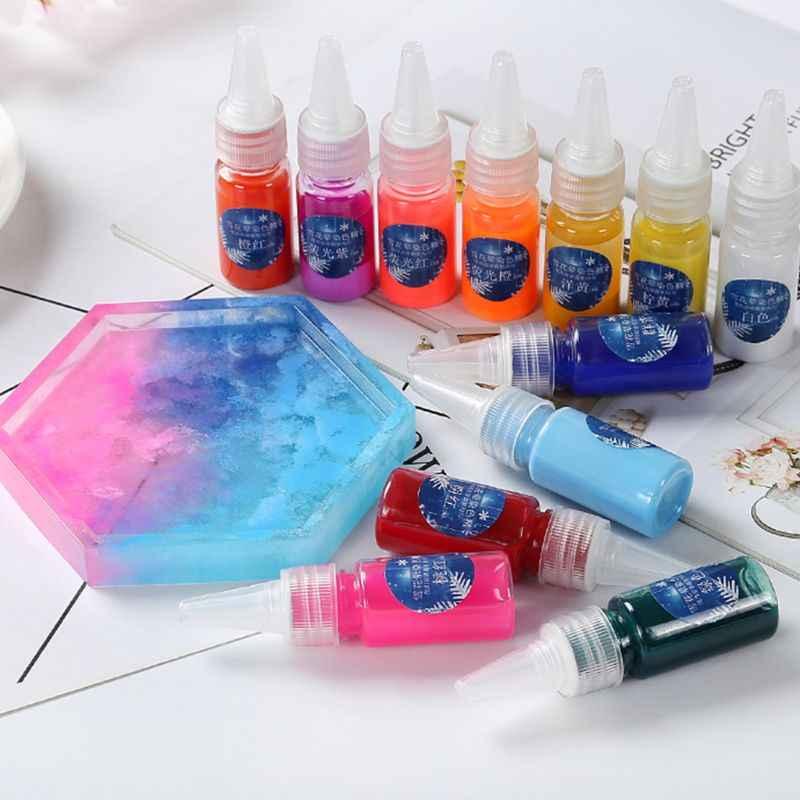 10 Ml Sneeuw Meel Verven Fijne Rendering Diffusie Diy Crystal Epoxy Mold Kunst Dye Pigment
