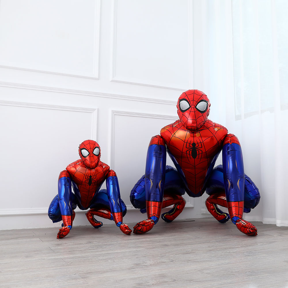 Spiderman Hero Foil Balloon Movie Characters Kids Toys 3D Assembly Balloons Birthday Party Activities Decoration image