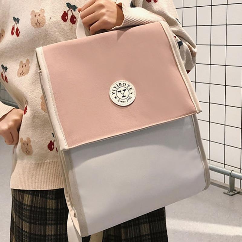 JOYPESSIE Fashion Women Leisure Black School Girls Bagpack Waterproof For Teenager Travel Bags Backpack Mochilas