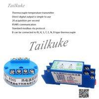 K Type Thermokoppel Temperatuur Zender Rjstenb Sensor Om RS485 Thermokoppel Acquisitie Module RS05 / 11