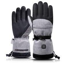 45 v перчатки с электрическим подогревом Для мужчин женщин ветрозащитный