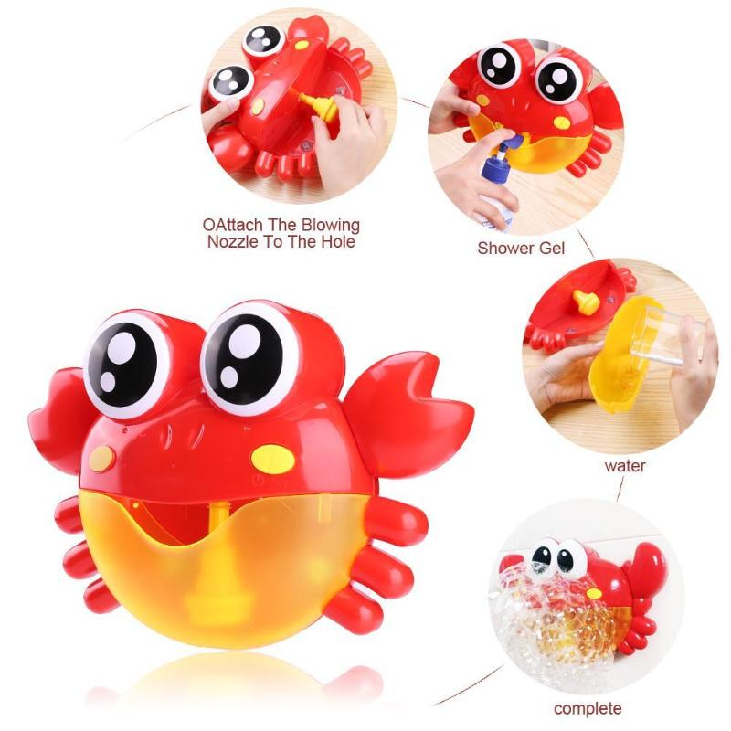 Bubble Machine Light Electric Toy Make Bubble Crabs Funny Music Bath Pool Baby Kids Outdoor Swimming Bathtub Soap Machine Toys
