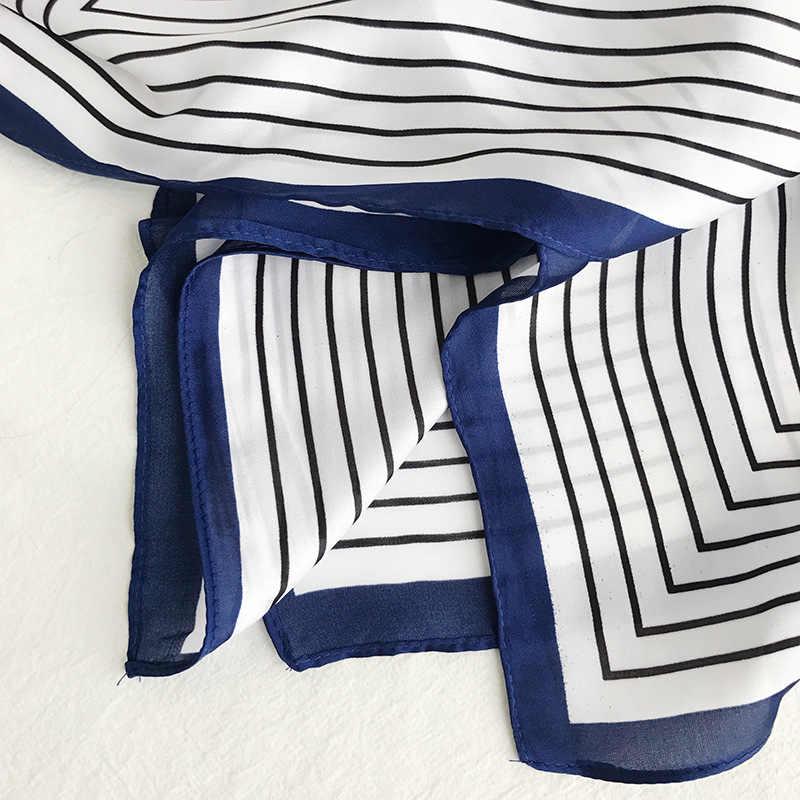 2020 Nuovo Stile Strisce di Affari Hostess della Compagnia Aerea Decorazione Piccolo Asciugamano Piazza Versatile Corea Del Sud Legati Sacchetto Sciarpe di Seta