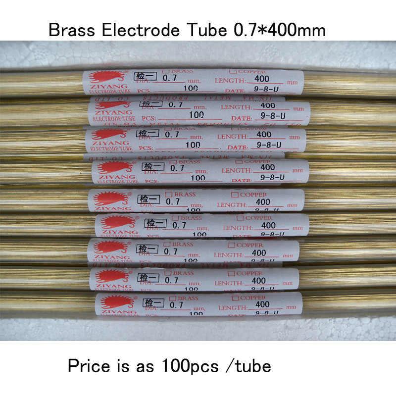 Tử Dương Đồng Điện Cực Ống 1 Lỗ 0.7*400 Mm Cho EDM Máy Khoan