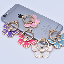 Phone-Ring Universal Peacock for 11-X-Huawei Crown Diamond Butterfly