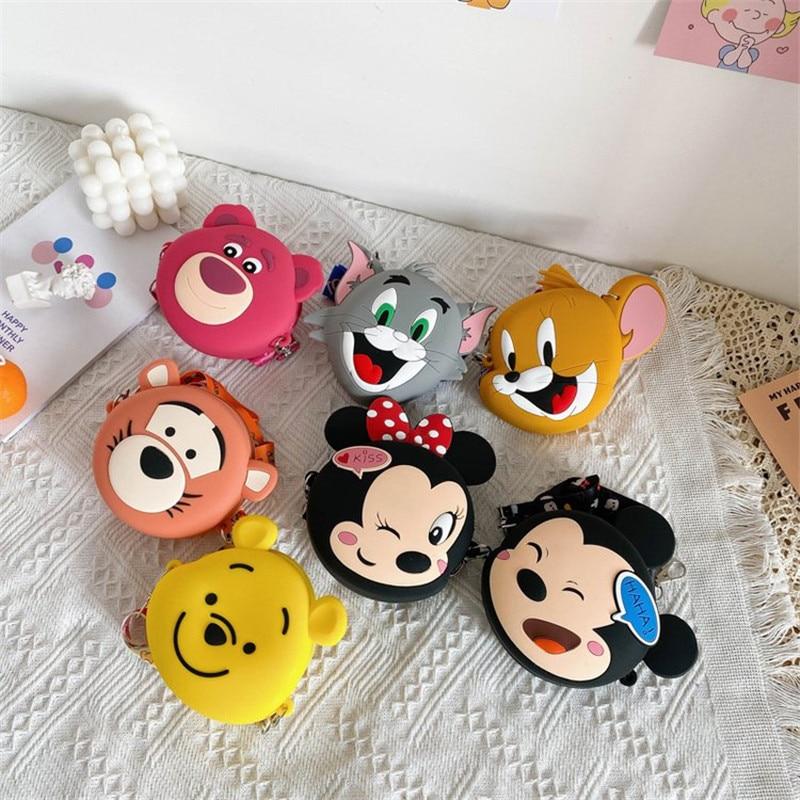 Creative Princess Children Coin Silicone Purse Girl Coin Bag Cartoon Cat Handbag Boy Clutch Soft Wallet Kawaii Strap Coin Purse