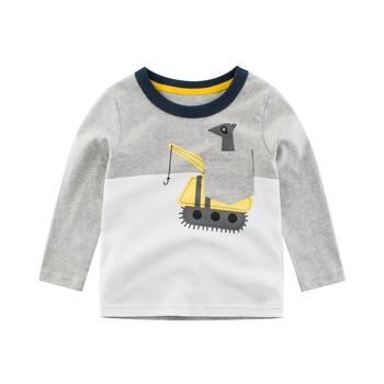 цена на Boys T Shirt Tops Long-Sleeve  Toddler Baby Girls Kids Children Cotton Fashion Autumn Spring Print Car for 2 3 4 5 6 7 8 Years