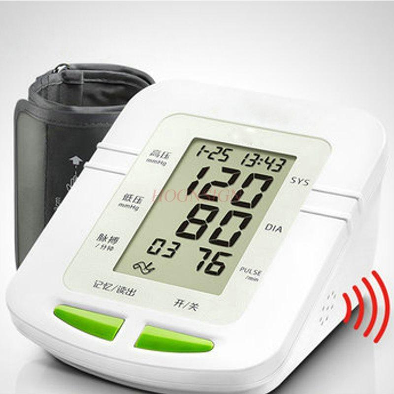 Équipement médical instrument de mesure de la pression artérielle maison automatique haute précision électronique tensiomètre type de bras