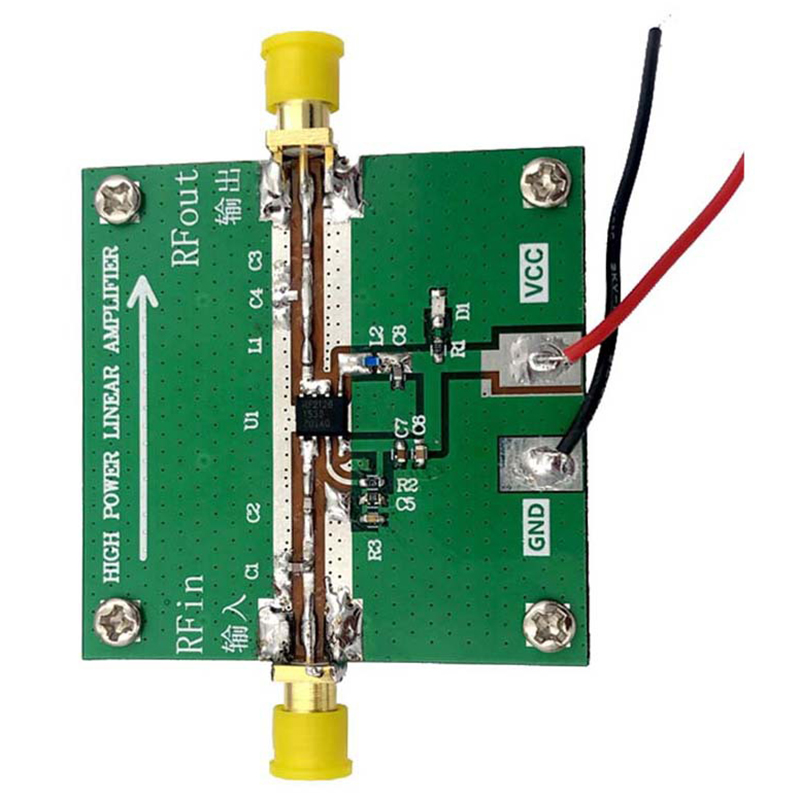 RF2126 2.4GHZ Broadband RF Power Amplifier 400M-2700MHZ 1W For WIFI Bluetooth Ham Radio