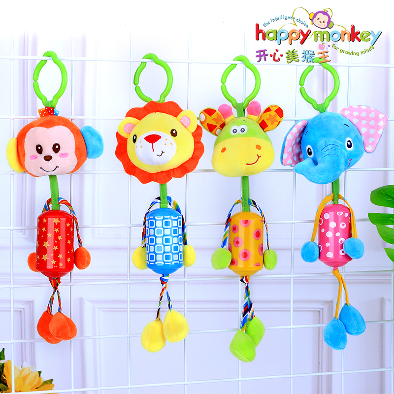 Plush Rattles For Boy And Girl Toy On A Stroller Hand Grasp Rattle Toys For Children Development Speelgoed Baby Play Rattles