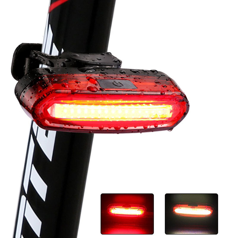 2019 New 120Lumens Bicycle Light Cycling LED Taillight USB Rechargeable Waterproof MTB Road Bike Tail Light Back Lamp