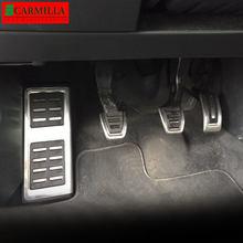 Carmilla cubierta de Pedal de coche para Skoda Fabia 2012 - 2021 LHD piezas de repuesto en MT Gas pedales de Pedal de freno de pie apoyo Protector esteras