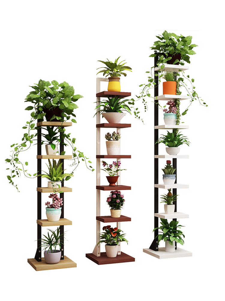 Multi-storey Indoor Living Room Bedroom Household Landing Type Shelf Balcony Flowerpot Frame