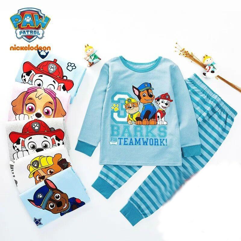 100% Genuine Paw Patrol Children's Pajamas Suit Skye Chase Everest Marshall Kids Doll Children Toy Birthday Gift High Quality