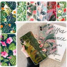 LJHYDFCNB Banana Leaves Custom Photo Soft Phone Case For iphone 6 6s plus 7 8 plus X XS XR XS MAX 11 11 pro 11 Pro Max Cover ljhydfcnb wave spray cover soft shell phone case for iphone 6 6s plus 7 8 plus x xs xr xs max 11 11 pro 11 pro max cover