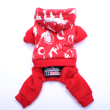 Dog Cat Jumpsuit Hoodie Pet Puppy Warm Coat Jacket 4 Legs Winter Clothes Apparel