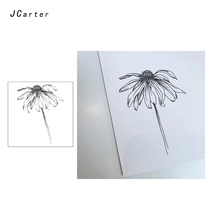 JC Clear Rubber Stamps Withered Flower Transparent Silicone Scrapbooking for Card Making Craft Decoration New Stamp 2019
