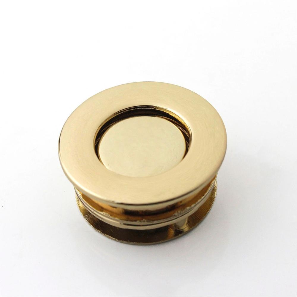 1pcs Metal Button Lock Round Fashion Switch Button Lock Closure Parts for DIY Handbag Shoulder Bag Purse Hardware Accessories