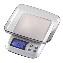 Household Kitchen Scale Electronic Food Scales Diet Scales Measuring Tool Slim LCD Digital Jewelry Scales US Plug(China)