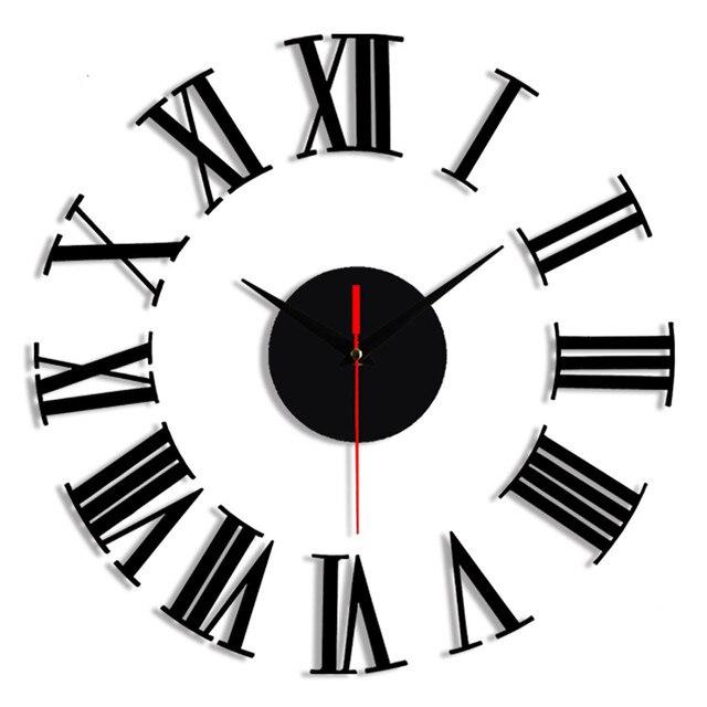 Relógio de parede 3d decorativo, relógio de parede 3d com adesivo de superfície espelhado para decoração de casa e escritório, faça você mesmo 30
