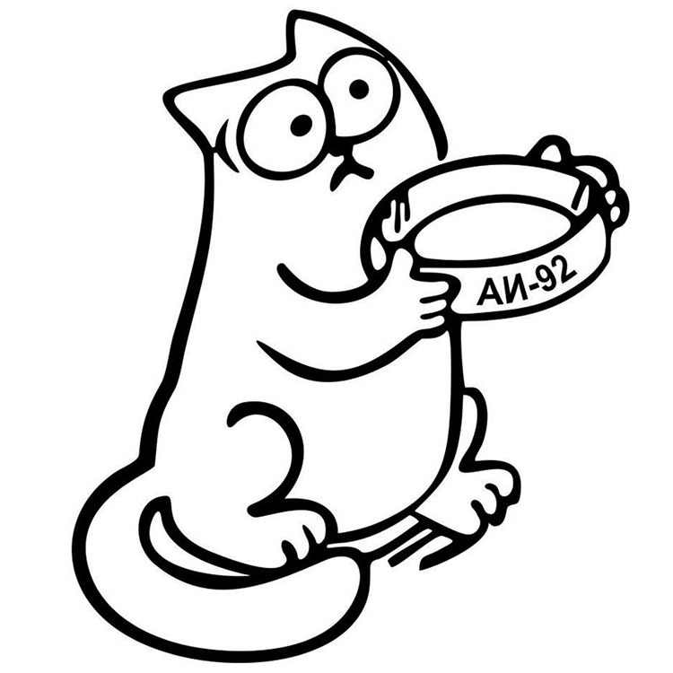11.5X13.5 Cm Simon Cat Bumper Stickers Foreign Trade New Products Direct Selling Bumper Stickers Cat And Bowl an-92 Reflective S