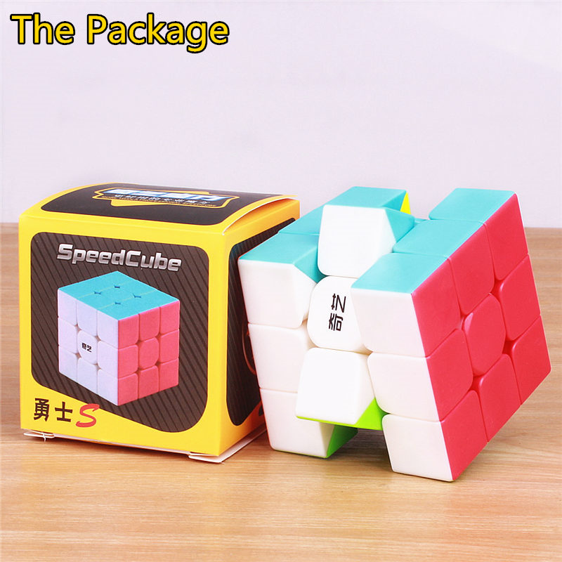 Купить с кэшбэком qiyi warrior S 3x3x3 three layers Magic Cubes Profissional Competition Speed qiyi Cubes Stickers Puzzles Cube toys for children