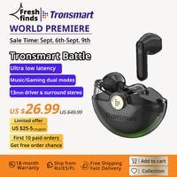 Tronsmart Schlacht Wireless Gaming Kopfhörer Bluetooth Kopfhörer mit Ultra-Niedrige Latenz, 20-stunde Spielzeit, unterstützung Musik/Gaming modus
