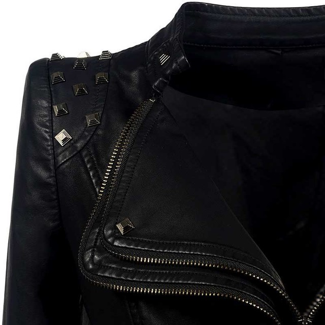 Sexy Leather Biker Jacket 5