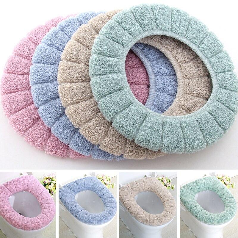 universell Dickes Pl/üsch wasserdichtes Rosa Color : Beige Cfiret Toilettensitzabdeckung Die Toilettenmatte ist Paste-Typ L/änge 41 cm, Breite 18 cm waschbar Beige Blau
