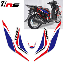 for honda SH125 SH 125 motorcycle Front body waterproof decal  fairing sticker super sticky kit Protect decorative decals